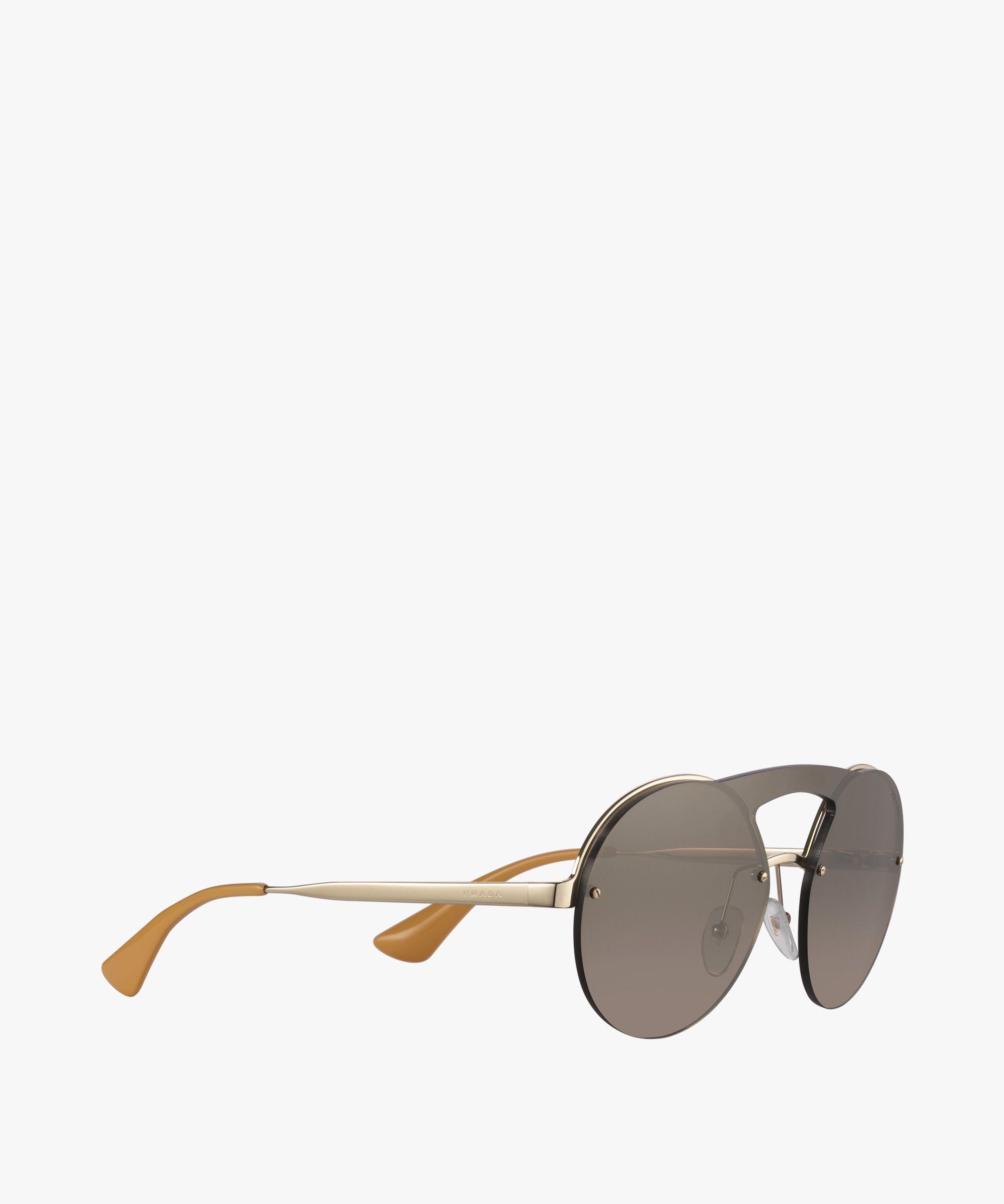 0003837f2b0 Prada Cinéma Eyewear Prada MIRRORED GRADIENT ANTHRACITE GRAY TO BROWN LENSES