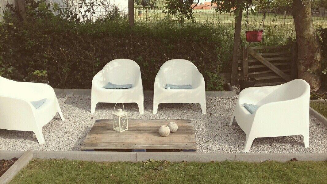 Ikea Skarpo Chair Terras In Grind Tafel Pallet