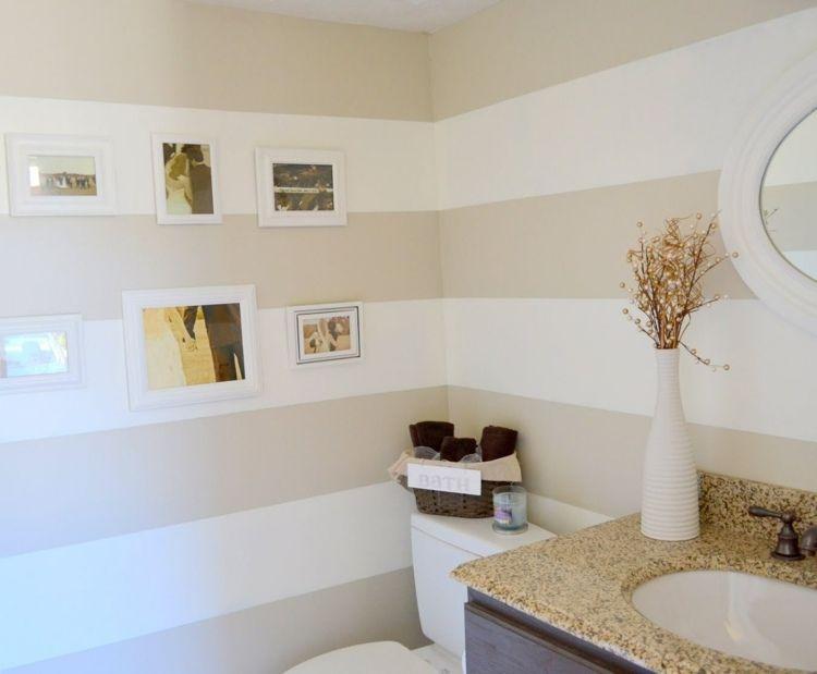 couleur salle de bains ides sur le carrelage et la peinture - Salle De Bain Decoration Murale