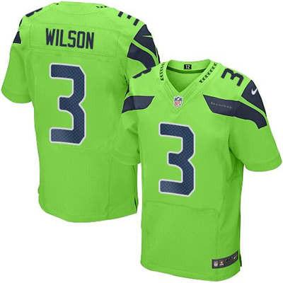 meet 46e36 5e1fd Russell Wilson Green Men's Stitched NFL Elite Rush Jersey ...