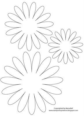 Patron De Marguerite Differentes Tailles Paper Flower Template