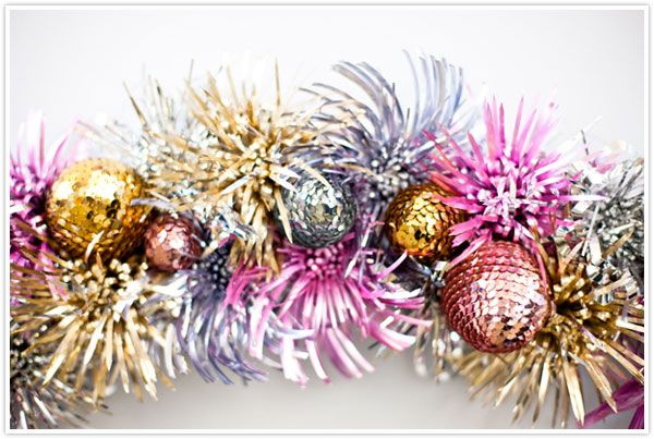 Northlight christmas tinsel garland holographic snowflakes with