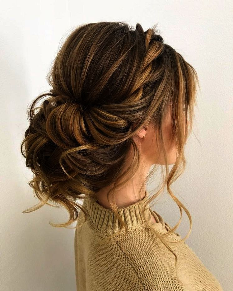 Check It Out Wedding Hairstyles For Medium Hair With Bangs Pinterest Braided Hairstyles For Wedding Hair Styles Updos For Medium Length Hair
