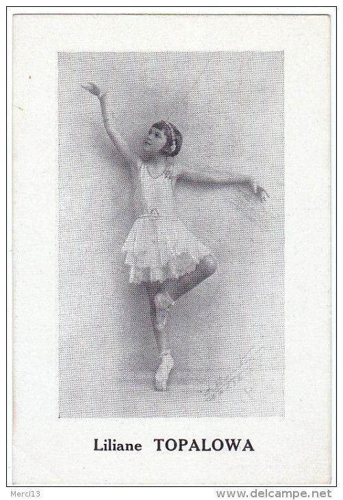 Carton style CPA (format 8,5 x 12,5) Danseuse Liliane TOPALOWA.