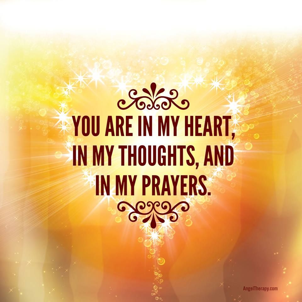 Here are some prayers, positive energy, and warm thoughts ...