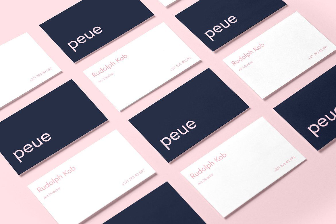 Peue Realsitic Business Card Mockup Business Card Mock Up Business Card Template Business Cards