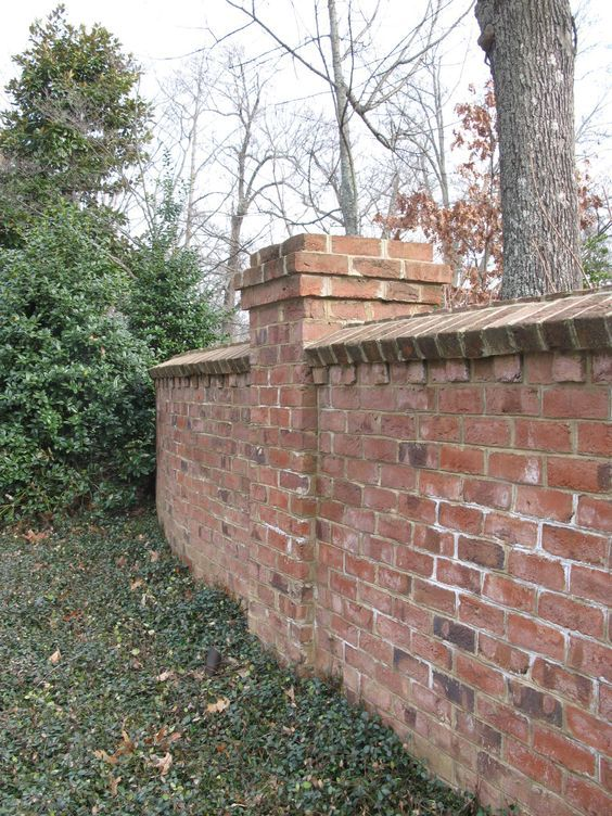 Brick Piers Google Search Privacy Fence Brick Fence Brick