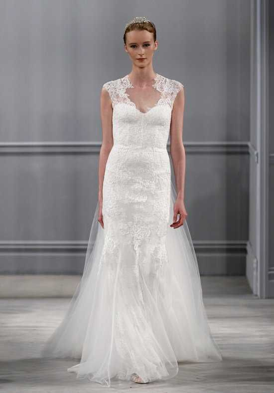Monique Lhuillier Harper Gown Sheath Wedding Dress | Save the Date ...