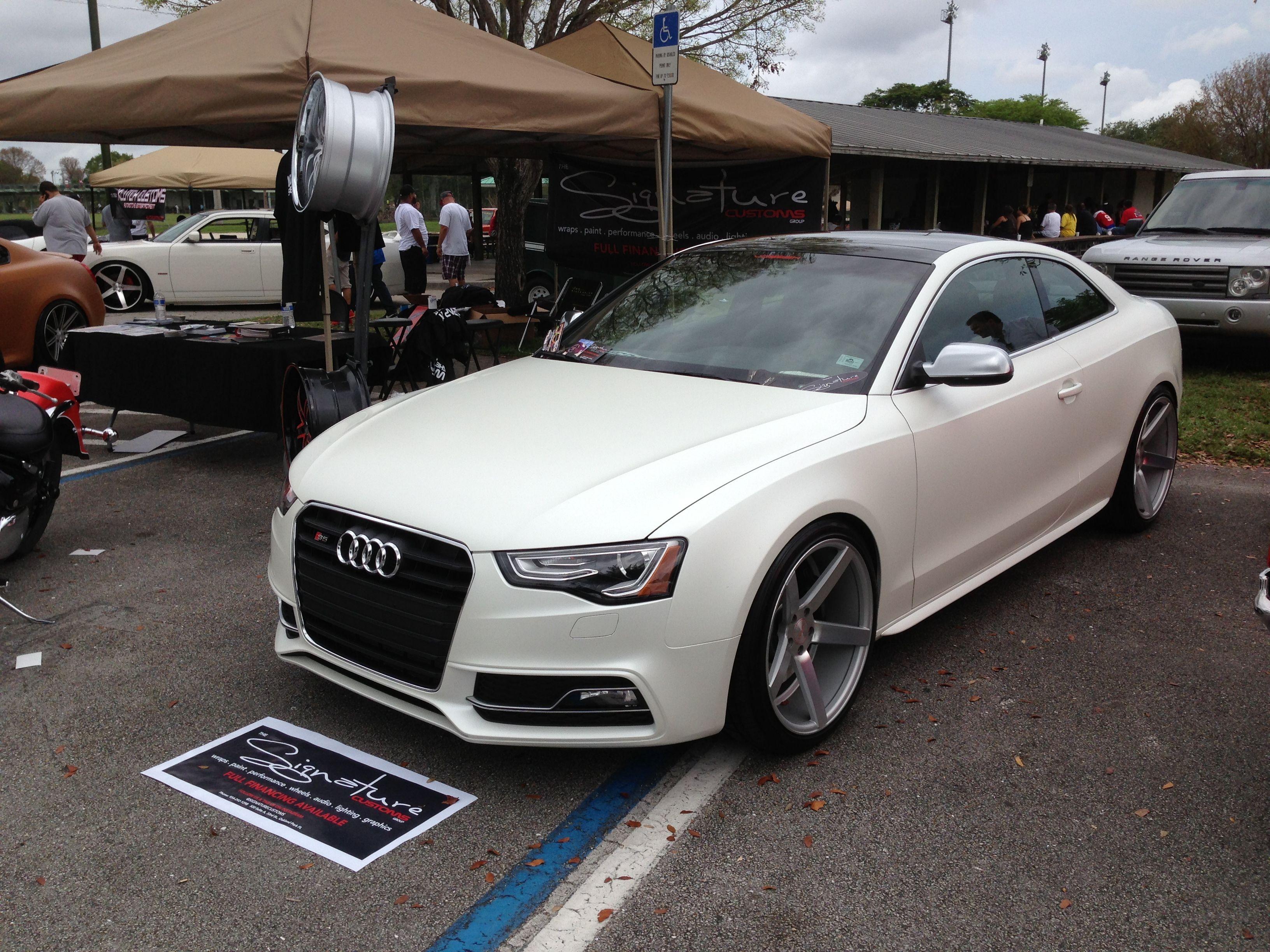 Audi S5 3m Satin Pearl White Audi S5 Satin Pearl White