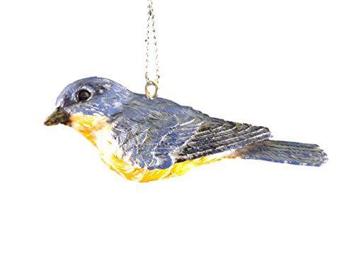 Blue Bird Songbird Animal Christmas Tree Ornament By