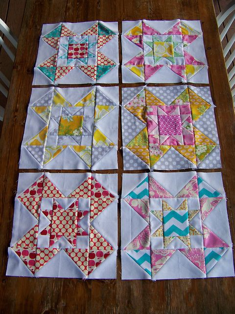 Blocks made for 3x6 bee 2nd Qtr. by creationsbyrachel, via Flickr