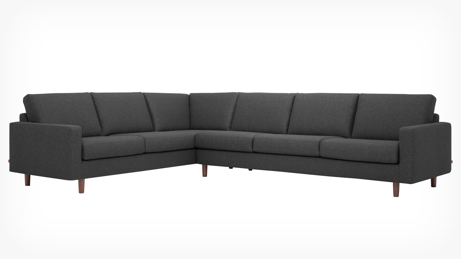 Oskar 2 Piece Sectional Sofa Fabric Eq3 Modern