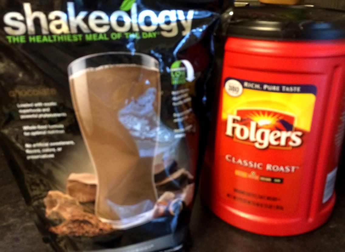 One of my favorite things to do with Shakeology  is to mix it with some coffee grounds. I just sprinkle in some grounds… Mix with my chocolate Shakeology and ice… And enjoy! #Shakeology #fitness