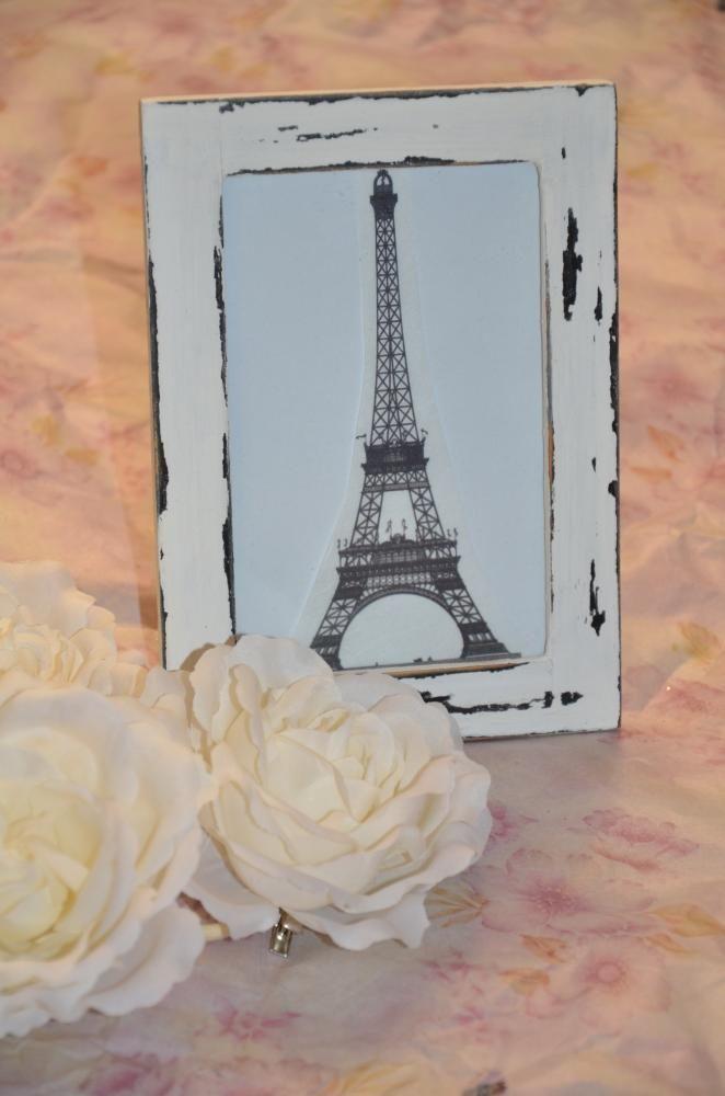 Obrázky - Shabby chic obrázok alebo rám Eiffelovka - 3720588