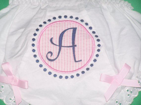 Personalized Monogrammed Diaper Covers Baby Toddler Bloomers Lots of Designs
