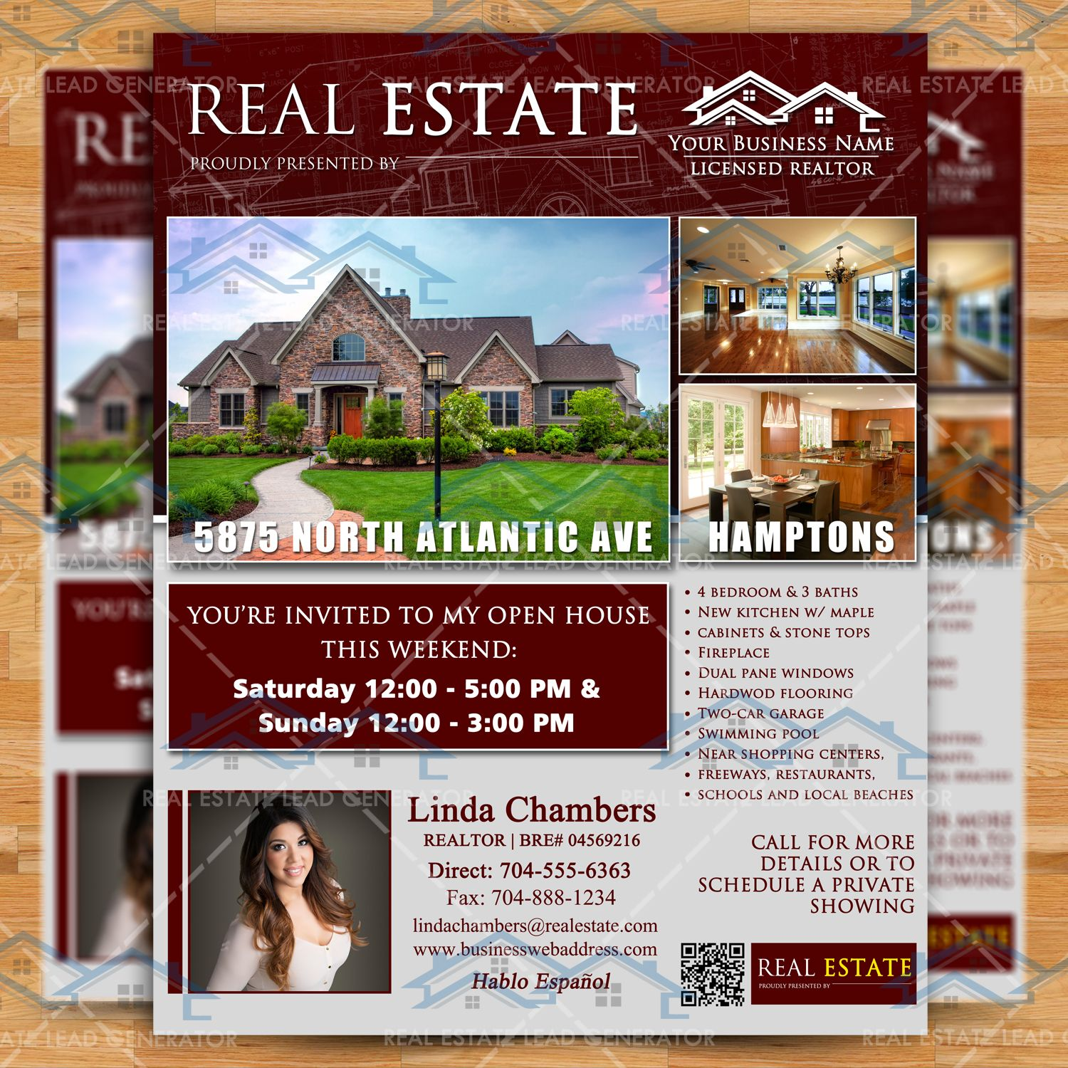 Open House Real Estate Flyer Template Property Listing Brochure – Real Estate Open House Flyer Template