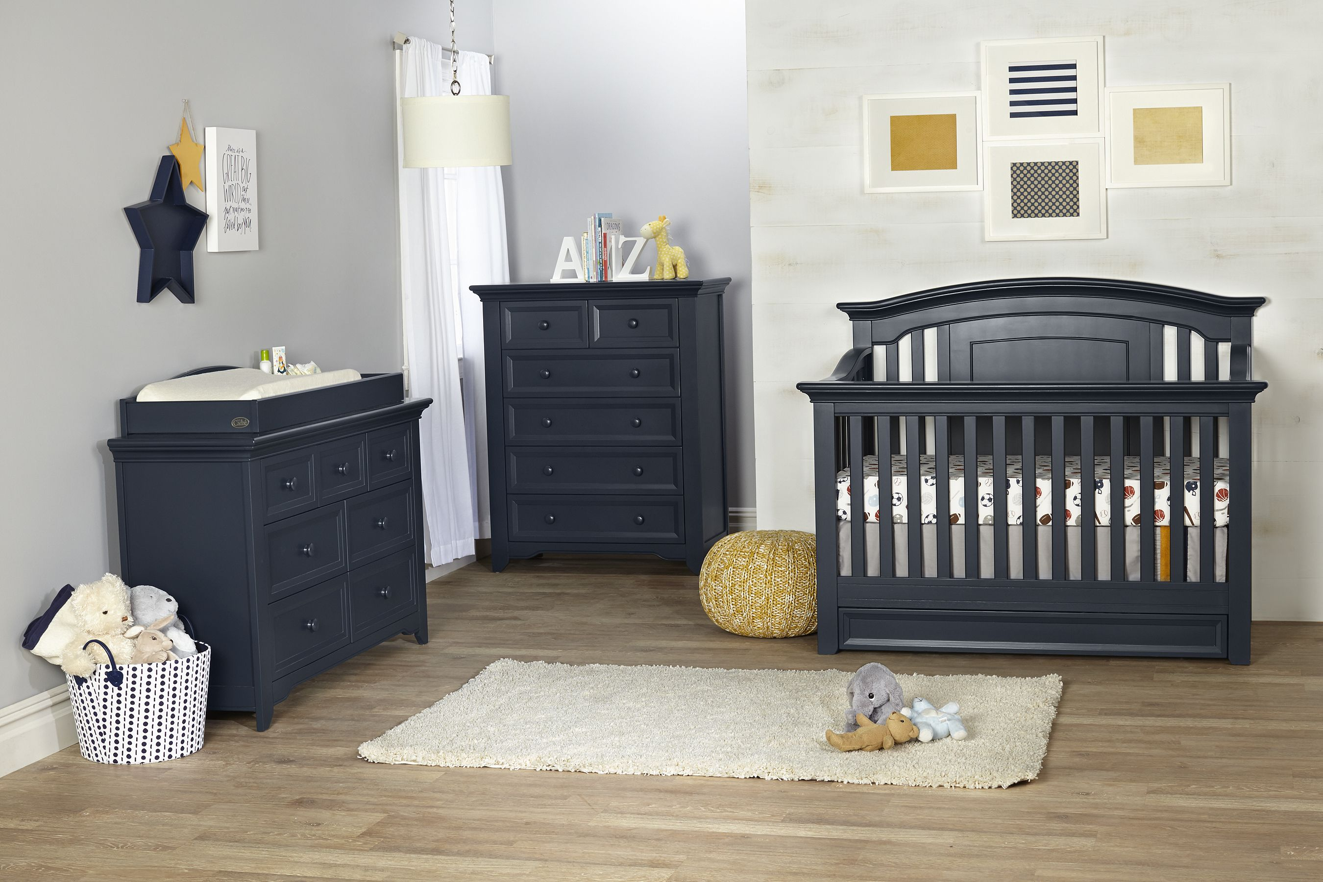 Harbor nursery furniture collection from baby cache in navy this is so transitional and can grow easily from baby to childhood and beyond pnpartner