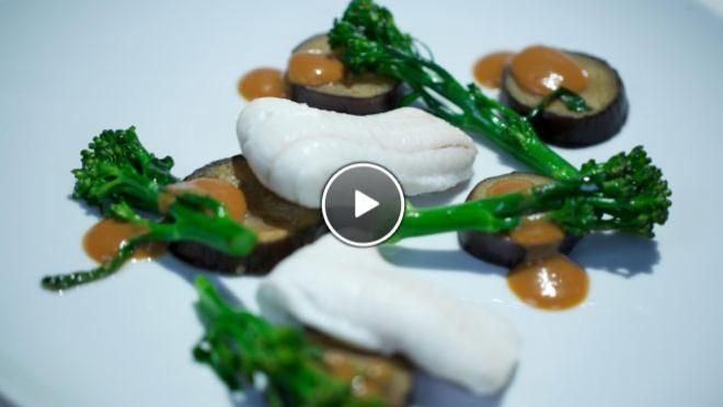 Gestoomde tongschar met miso-saus - Impress Your Friends | 24Kitchen