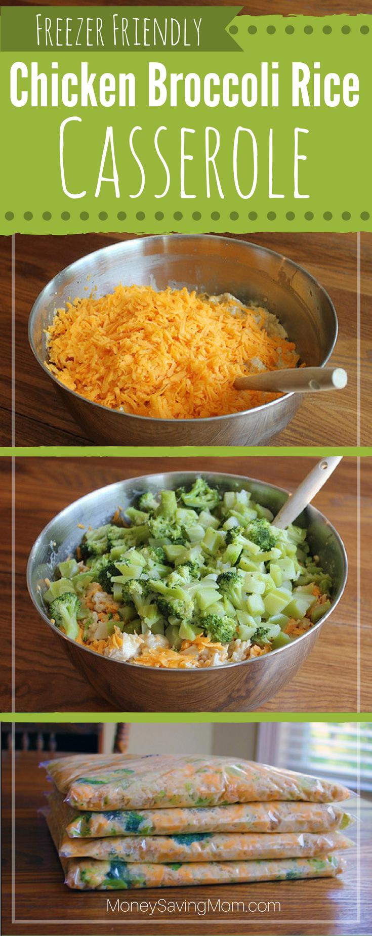 Chicken Broccoli Rice Casserole  Freezer Pleasers -6125