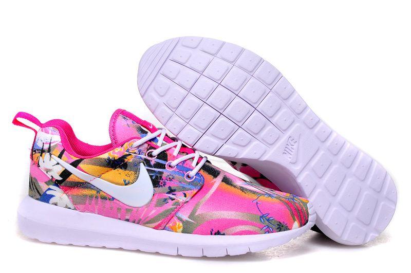 super popular 03a2c c99d2 Nike Roshe Run Damen Blumen Rose Blau Weiß BequemOnline Bestellen