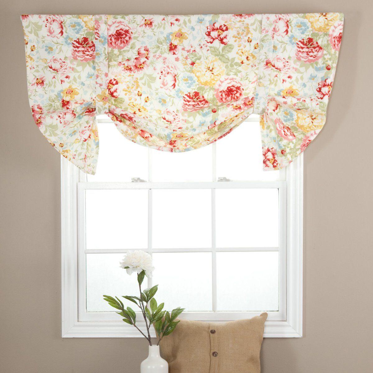 Tie Up Kitchen Curtains: Ellis Curtain Monica Lined Duchess Tie Up Valance