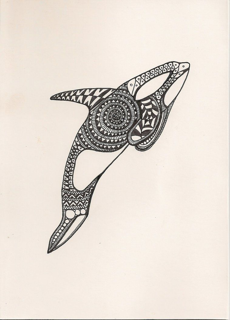 abstract orca by gotezz on deviantart doodles pinterest