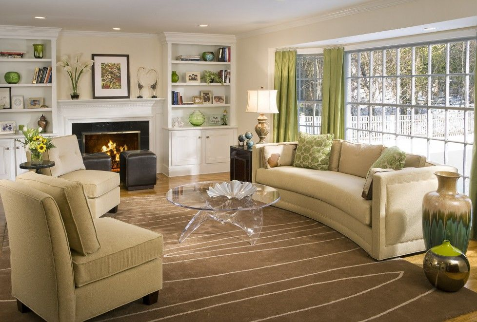 Modern Country Home Ideas Decorating Symmetry Living Room Interior