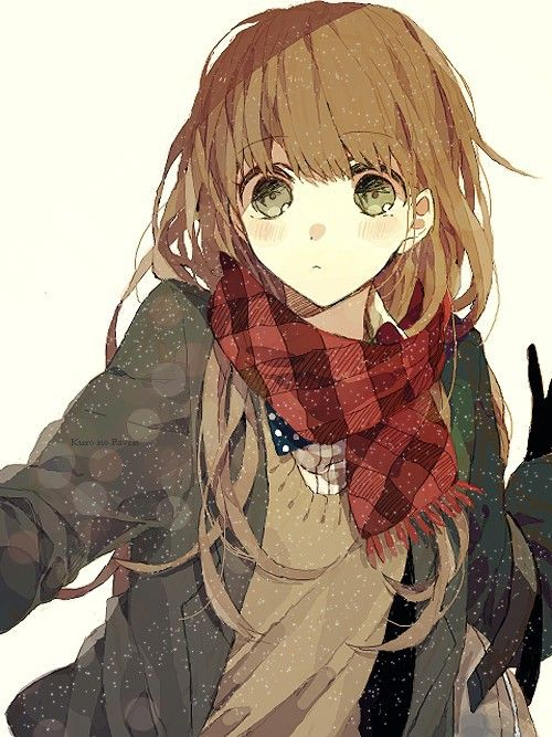 anime girl with light brown hair and green eyes www