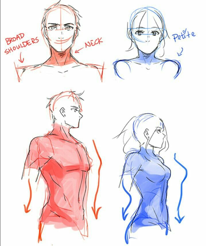 Drawing male and fem figures | drawing | Pinterest | Drawings ...