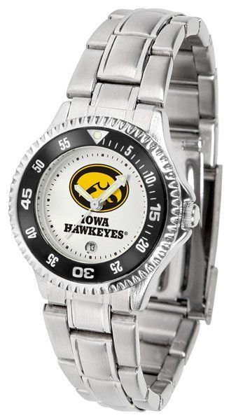Iowa Hawkeyes Competitor Steel Ladies Watch