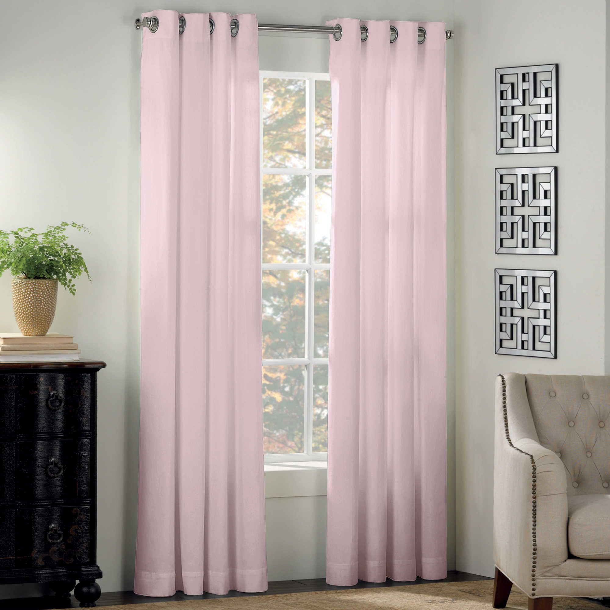 Newport 63 Inch Grommet Window Panel In Light Pink Panel