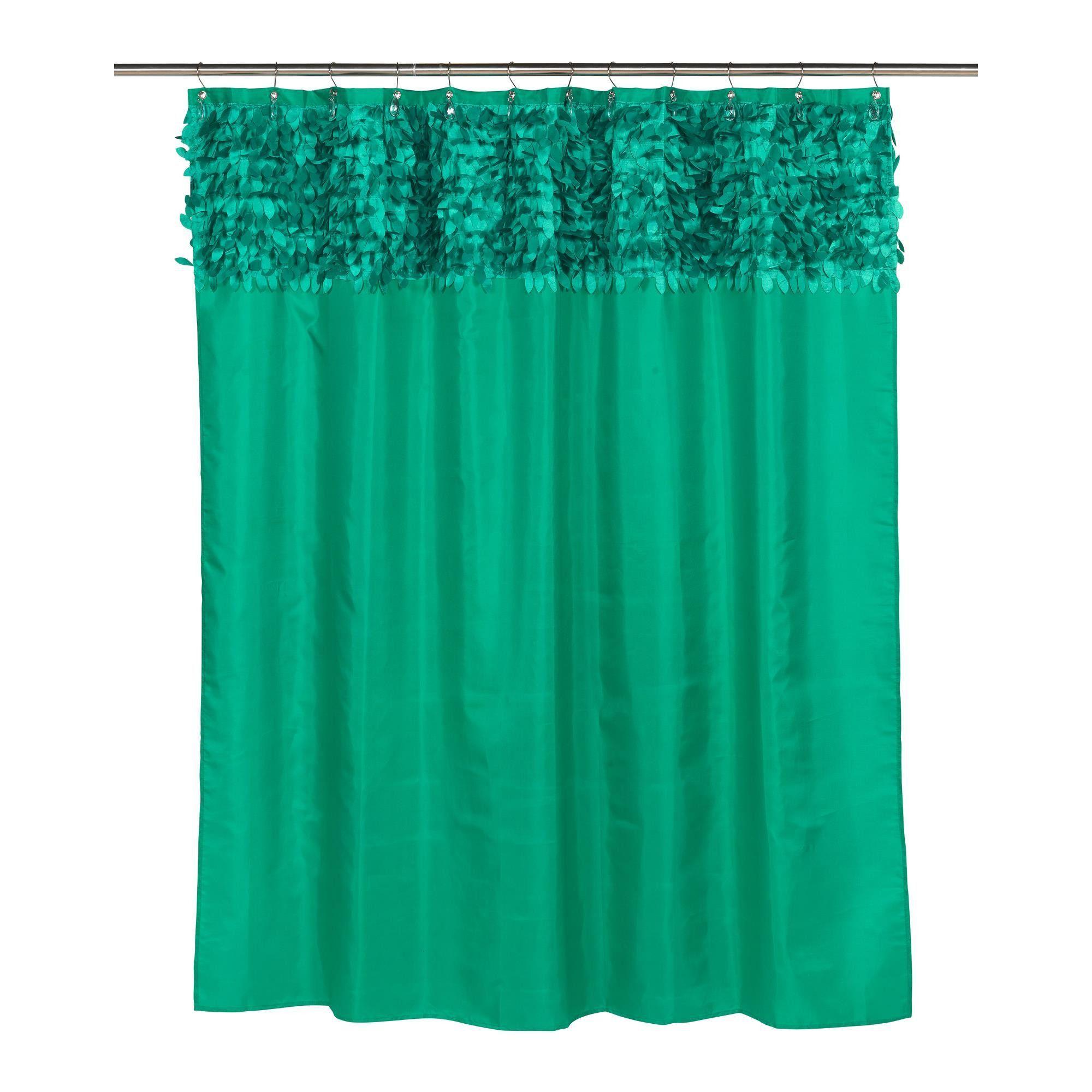 Wildflower Emerald Shower Curtain Default Title Green Shower