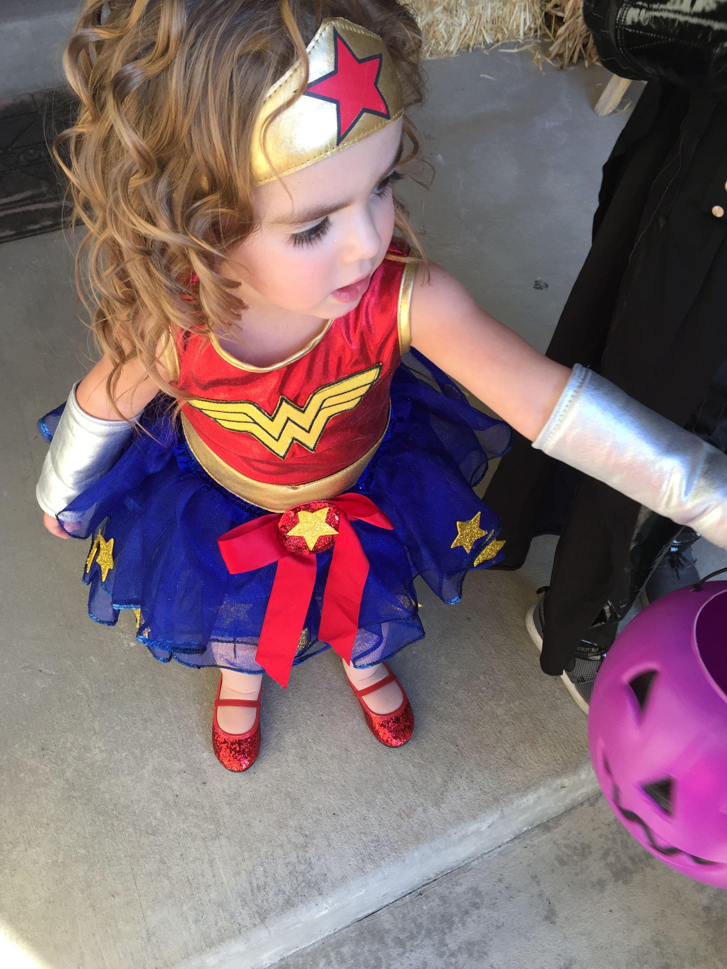 Toddler girl wonder woman Halloween costume WonderWoman