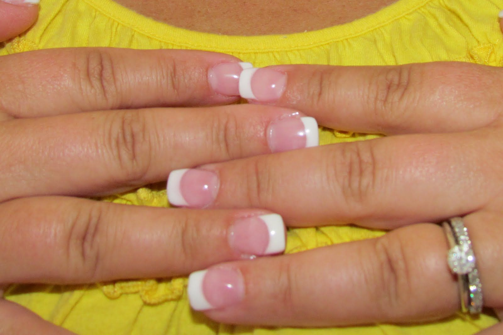 Pink And White French Manicure Want Gel Nails