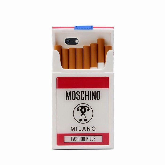 promo code 730e0 2c72d Moschino Cigarette Box iPhone 7/7 Plus Case White | Moschino iphone ...