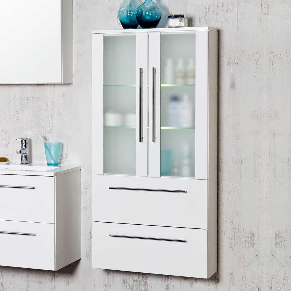 Badezimmerschrank Mit Glasturen Weiss Jetzt Bestellen Unter Https