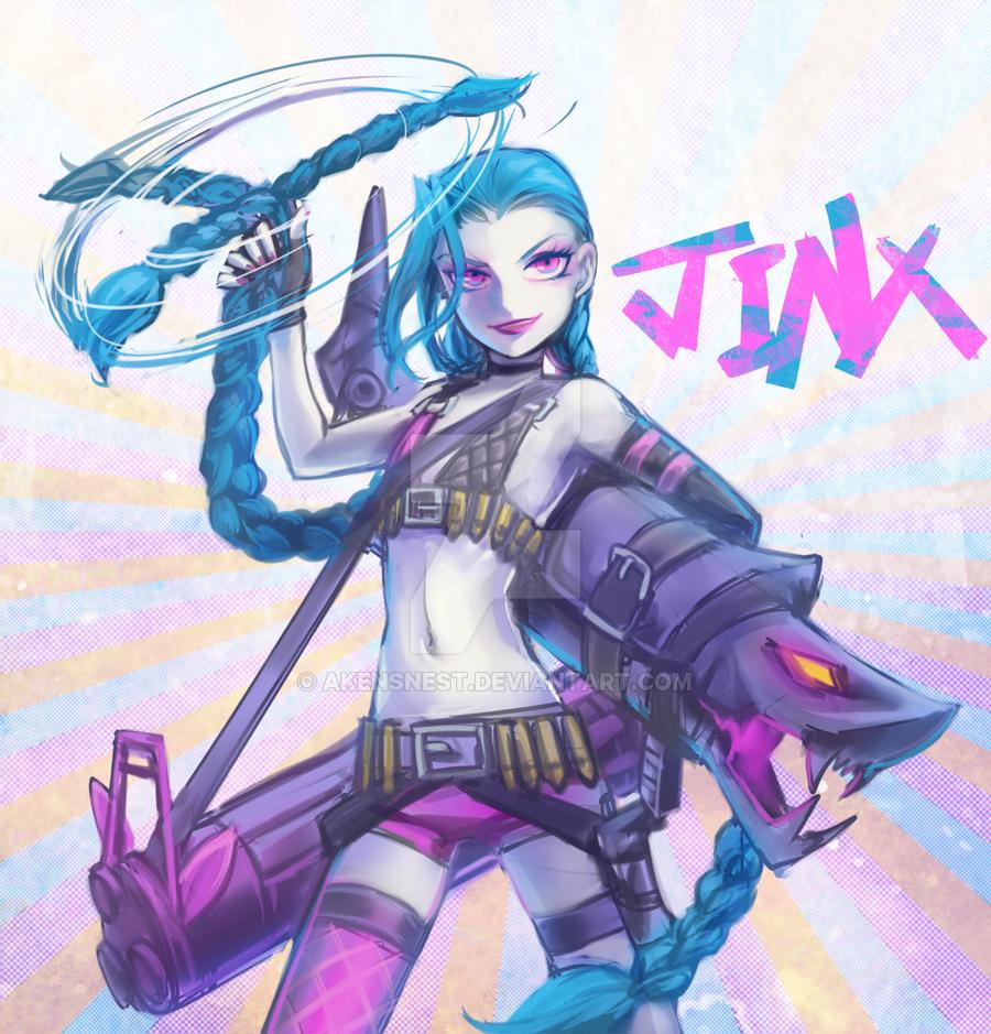 Jinx by akensnest on DeviantArt Jinx league of legends