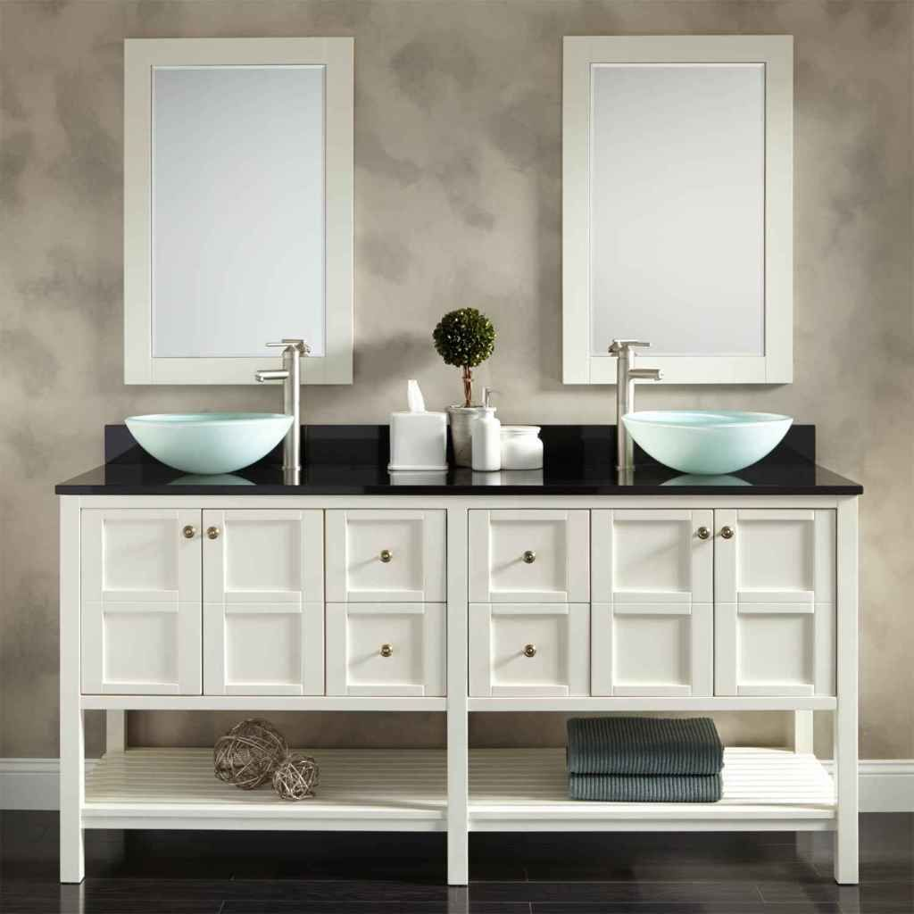 The Features of Modern Bathroom Sink Cabinet Stylish Textured Wall ...