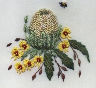 Banksia and Pea Flower by Delma Moore