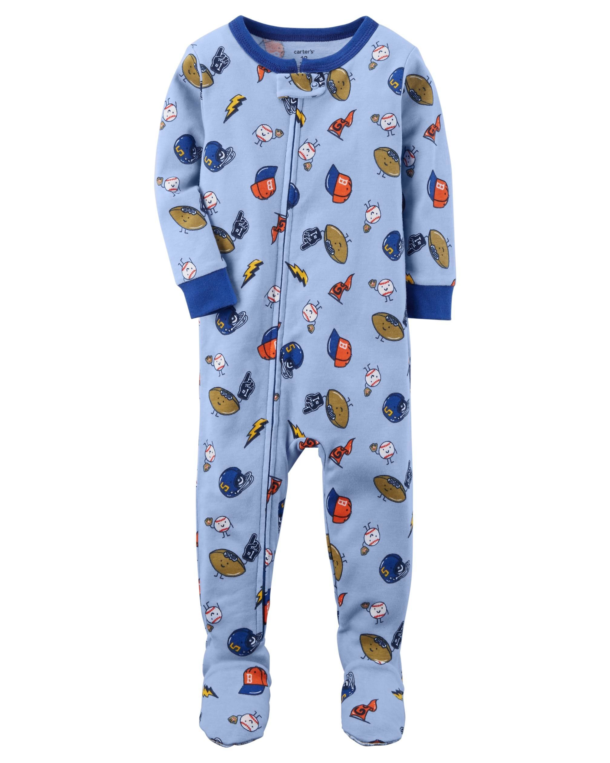 207e08e44 Baby Boy 1-Piece Sports Snug Fit Cotton PJs