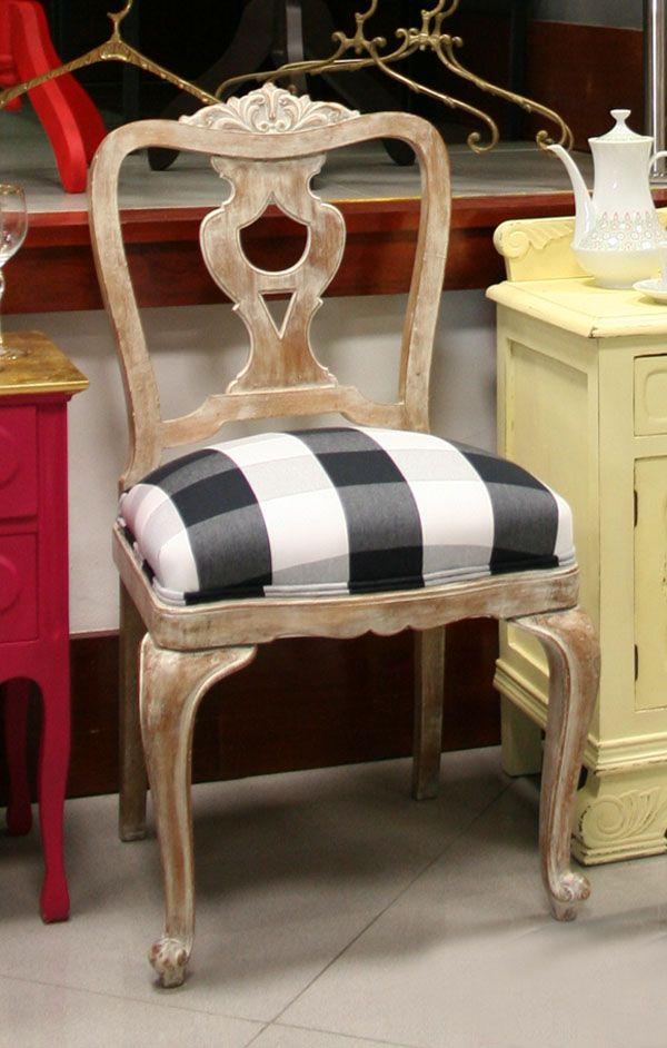 Silla antigua recuperada renovated chair bazar vintage chic muebles furniture muebles - Sillones antiguos restaurados ...