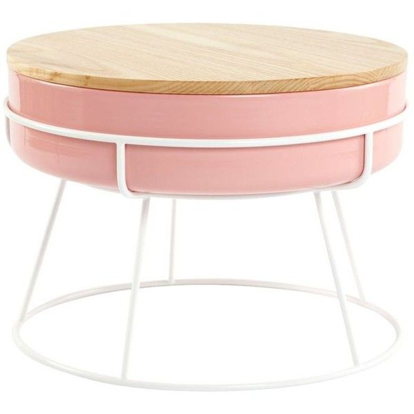 Hooper Storage Coffee Table Natural Ash: Scott Jones Design Tabla Coffee Table Pink/ash By Found On