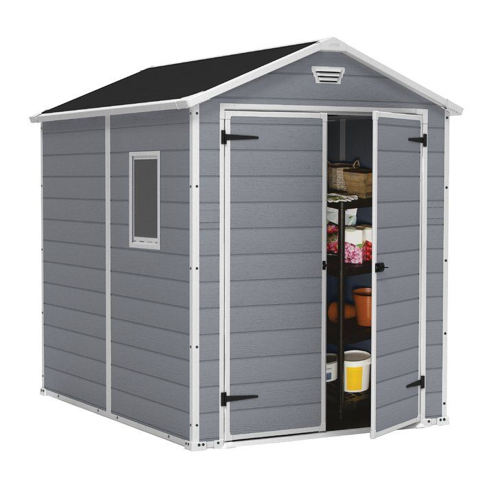 Manor 6 ft. W x 7.5 ft. D Plastic Storage Shed
