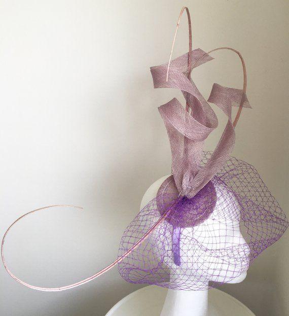 64529ed308d TheHeadwearBoutique on Etsy- Issy Lilac Light Purple Fascinator Kentucky  Derby Oaks Fascinator Headband