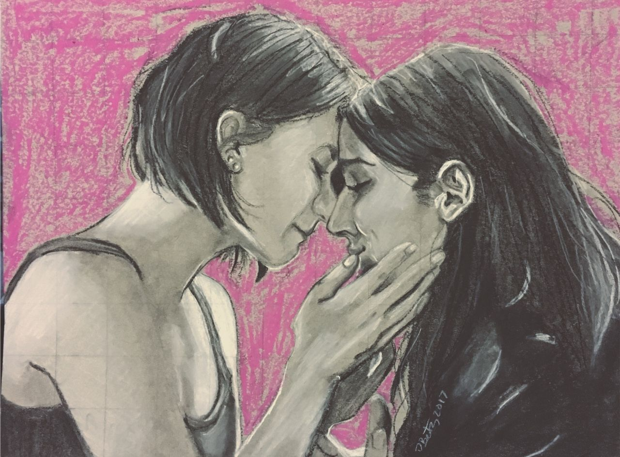 If there be any gay or lesbian characters framed print by victoria roberts