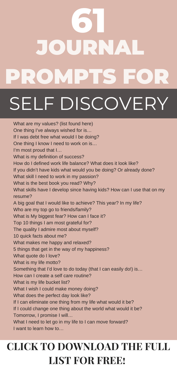 61 insightful question for self discovery free printable list