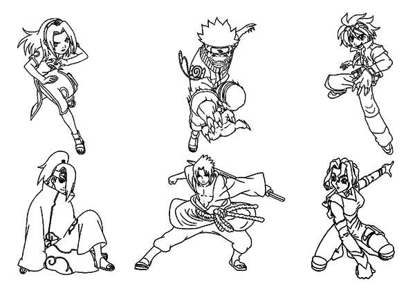 Amazing Naruto Characters Coloring Page Download Print Online Coloring Pages For Free Color Nimbus Online Coloring Pages Coloring Pages Online Coloring