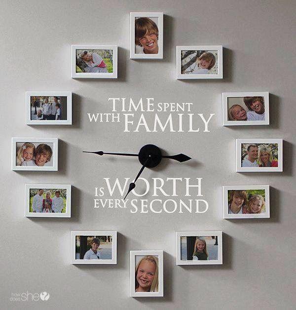 Reloj Con Fotos Familiares Decoracion De Unas Decorar Con Fotos Decoracion Con Fotos