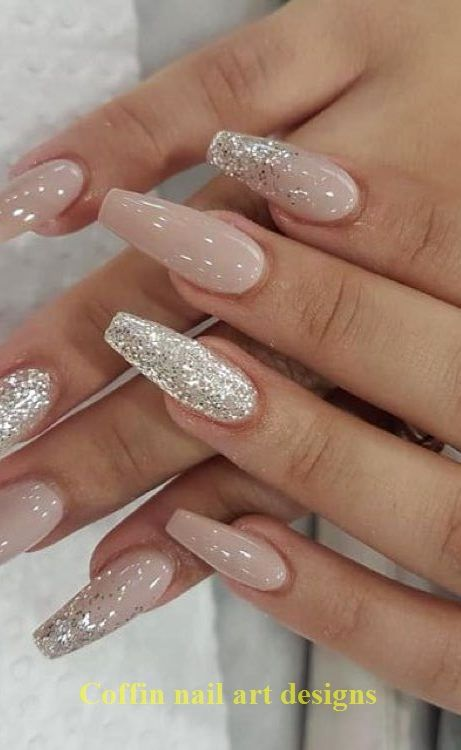20 Trendy Coffin Nail Art Designs 1 In 2020 With Images