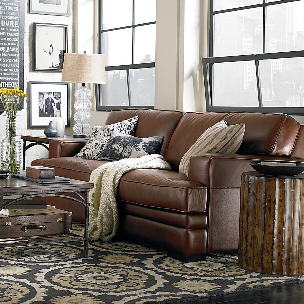 2293 Best Images About Leather Sofas And Living Room: Living Room Sofa, Interior, Brown, Blue